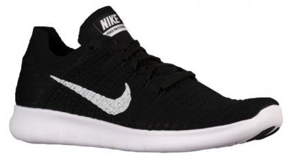 Nike Free RN Flyknit Hommes baskets noir/blanc QBO994