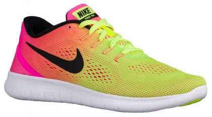 Nike Free RN Hommes sneakers vert clair/rose ZFM907