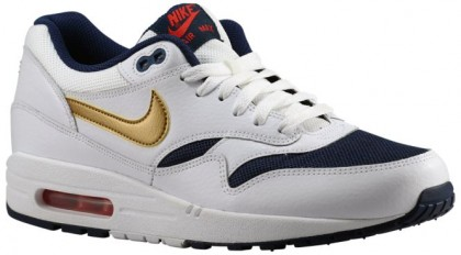 Nike Air Max 1 Essential Hommes chaussures de sport blanc/or HVP623