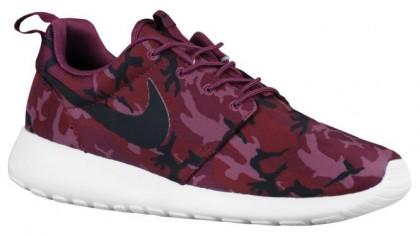 Nike Roshe One Print Hommes chaussures de course bordeaux/noir FGQ655