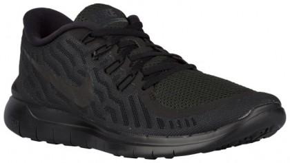 Nike Free 5.0 2015 Hommes chaussures de course Tout noir/noir BXL560
