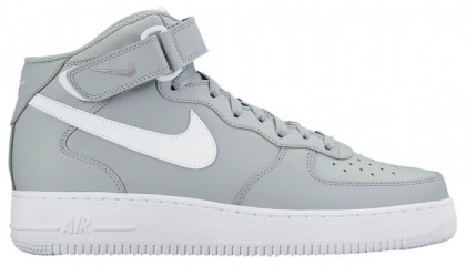 Nike Air Force 1 Mid Hommes baskets gris/blanc XRC011