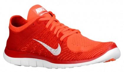 Nike Free 4.0 Flyknit Hommes chaussures de course rouge/Orange BCE447