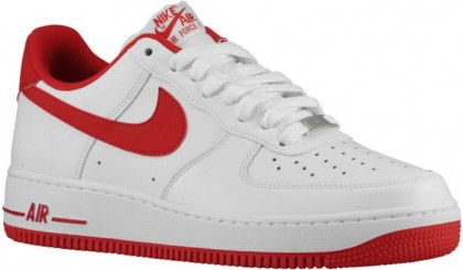 Nike Air Force 1 Low Hommes chaussures blanc/rouge AJA748