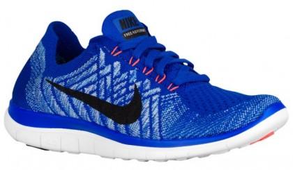Nike Free 4.0 Flyknit Femmes chaussures de sport bleu/noir JII311
