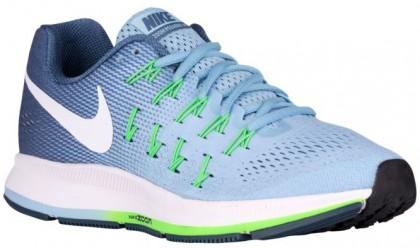Nike Air Zoom Pegasus 33 Femmes chaussures de course bleu clair/blanc QRO996