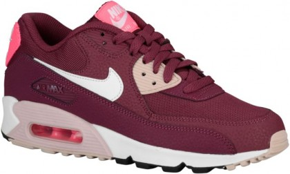 Nike Air Max 90 Femmes chaussures de course bordeaux/bronzage CSK456
