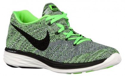 Nike Flyknit Lunar 3 Hommes chaussures gris/vert clair YWG577