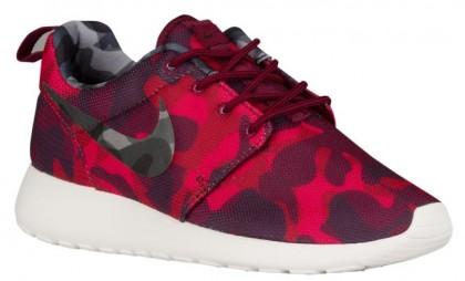 Nike Roshe One Camo Print Femmes chaussures rouge/bordeaux NCM701