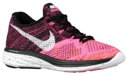 Nike Flyknit Lunar 3 Femmes chaussures de sport noir/blanc EZR369