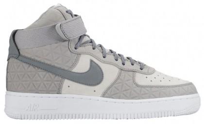 Nike Air Force 1 High Premium Suede Femmes sneakers gris/blanc LAT616