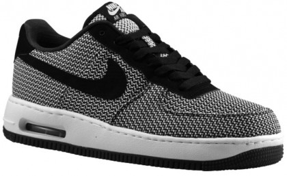 Nike Air Force 1 Low Elite Textile Hommes sneakers blanc/noir CWU795