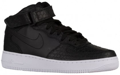 Nike Air Force 1 Mid Hommes chaussures noir/blanc PYR653