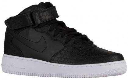 Nike Air Force 1 Mid Hommes chaussures noir/blanc PYR653