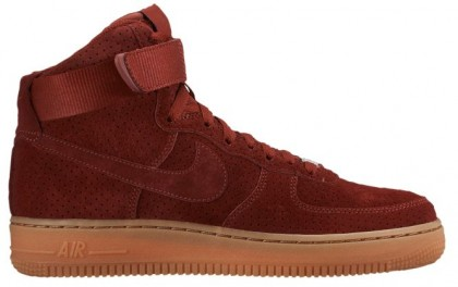 Nike Air Force 1 High Suede Femmes baskets marron/bronzage NFA645