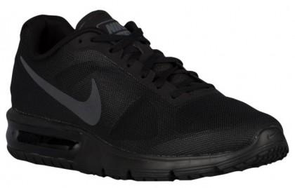 Nike Air Max Sequent Hommes chaussures de course noir/gris UDC584