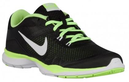Nike Flex Trainer 5 Femmes chaussures de course noir/vert clair TGG614