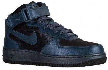 Nike Air Force 1 '07 Mid Prem Femmes sneakers noir/bleu marin PGK723
