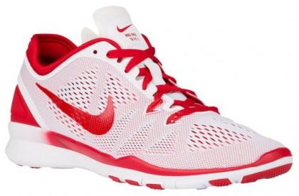 Nike Free 5.0 TR Fit 5 Femmes sneakers blanc/rouge NVF943