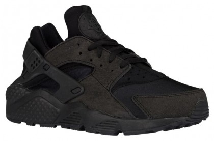 Nike Air Huarache Femmes chaussures de course Tout noir/noir GSX942