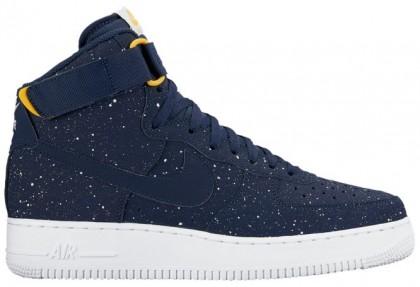 Nike Air Force 1 High Hommes chaussures bleu marin/blanc YZP176