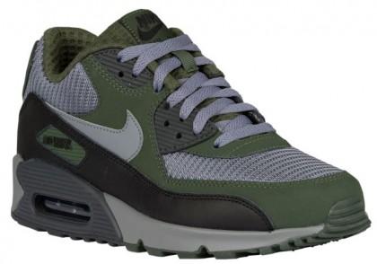 Nike Air Max 90 Essential Hommes baskets olive verte/argenté LEY004