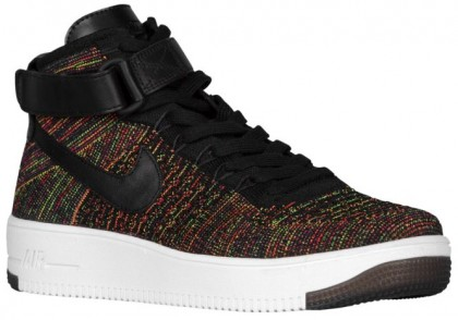 Nike Air Force 1 Ultra Flyknit Mid Hommes baskets noir/rouge CEP016