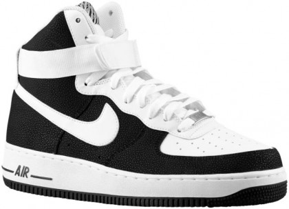 Nike Air Force 1 High 07 Leather Hommes sneakers noir/blanc EKQ793
