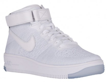 Nike Air Force 1 Hi Flyknit Femmes baskets blanc/gris OOM247