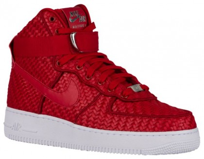 Nike Air Force 1 High LV8 Woven Hommes sneakers rouge/blanc XLJ617