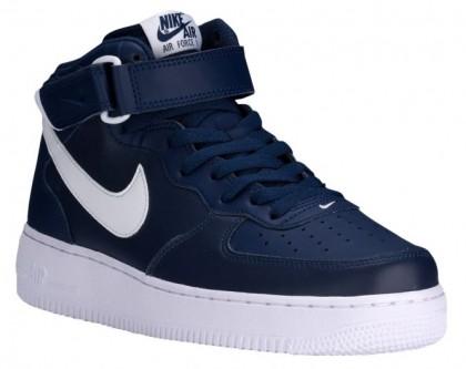 Nike Air Force 1 Mid Hommes sneakers bleu marin/blanc FFR662