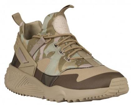 Nike Air Huarache Utility Hommes chaussures de course bronzage/olive verte TLT533