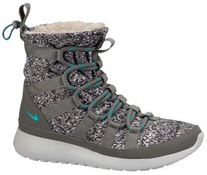 Nike Roshe One Hi Sneakerboot Femmes chaussures de course gris/bleu clair EPP210