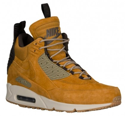 Nike Air Max 90 Sneakerboot Hommes chaussures de course or/marron OBD879