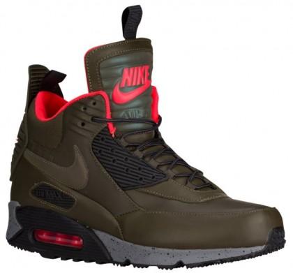 Nike Air Max 90 Sneakerboot Hommes chaussures olive verte/noir EIN359